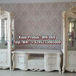 Meja TV Bufet Klasik Cabinet and One Shelf Antique White